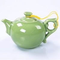 Fleur de chine tea handmade longquan celadon calvings glaze ceramic teapot tea set gift hot-selling