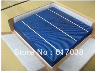 100pcs 6x6 solar cells 4.1W/PC three bars un-tabbed $0.57/watt total 410W /freeshipping(China (Mainland))