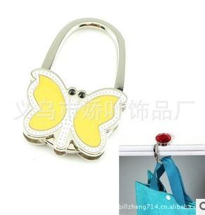 DHL free shipping 50pc/lot Multifunctional lock bag hook butterfly Handbag Hanger/fashion bag hook BH006