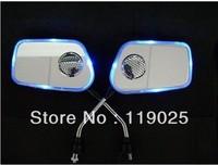Bluetooth Blue light Motorcycle Bike Back Rearview Mirror MP3 FM Radio Speaker Free Shipping