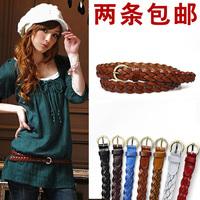 Baieku cowhide strap all-match twisted genuine leather belt cowhide women's thin belt female