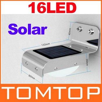 Freeshipping Solar Sensitive Motion Sensor 16 LEDs Outdoor Light Home Security,Dropshipping Wholesale