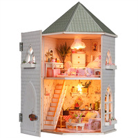 Diy house model,dollhouse,special unique valentine gift,Christmas creative original present,Distinctive innovative items