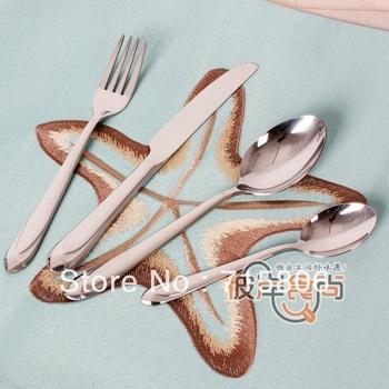 Quality west tableware dinnerware set knife fork spoon 4 diamond style