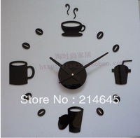 South Korea fun fashion creative DIY clock wall clock acrylic clocks quiet personality wall clock supe