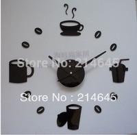 South Korea fun fashion creative DIY clock wall clock acrylic clocks quiet personality wall clock supe