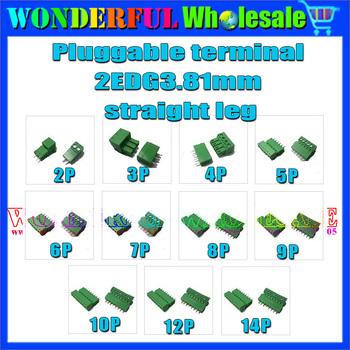 2EDG 3.81mm Pluggable terminal straight leg,11models/2pcs each model,22pcs/lot