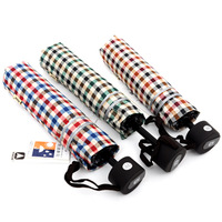 2013New fashion  umbrellas sun protection umbrella  Plaid anti-uv check umbrella One pcs FREE SHIPPING