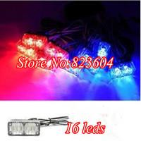 Led 8x2 Emergency Strobe Warning Flash High Power Grill Light Bar 16Leds