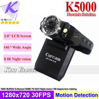 Cheap Price Carcam K5000 1080P 720P HD Car DVR 8 IR Night Vision G-Sensor Vehicle Dashboard Camera Singapore Post Free Shipping