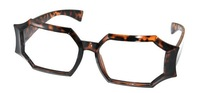 Wholesale Men's Black and Demi Classical Rectangular Hand-made Full Rim Acetate Designer Glasses Frames Lunettes
