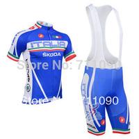 Free shipping!2013 Italia skoda team Ciclismo wear/cycling jersey and bib shorts kit/bicycle clothes/ summer bike wear