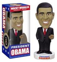 FUNKO WACKY WOBBLER President Obama BOBBLE HEAD FIGURE