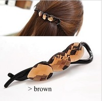 South Korea imported water Beaded headdress crystal hairpin twist clip top clamp!#1791