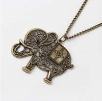 Min order is 10usd ! Fashion vintage elephant necklace Jewelry wholesale!Freeshipping!N0106