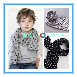 2013 new freeshipping SKULL children scarf fashion style girl&boy scarves baby clothing kids neckerchief 5pcs/lot(China (Mainland))