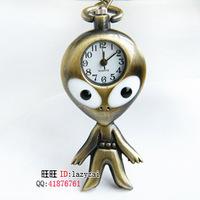 Cute cartoon table bronze pocket watch necklace long necklace table pocket watch