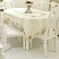 Famous quality mat embroidered tablecloth dining table cloth table linen table cloth gremial round table cloth