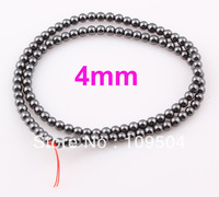 4mm Black Hematite Beads Shamballa Hematite Balls Round Stone Loose Beads 100pcs/lot Free shipping ZBE03