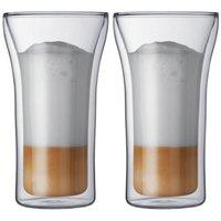 Original Bodum Assam Double-Wall Cooler/Beer Glass, Set of 2, Double Wall Espresso Glass mug ,glass coffee tubmler,Free shipping