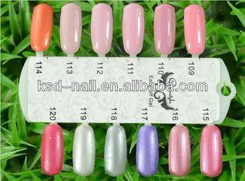 KSD 144 Colors Soak Off LED&UV Soak Off Color Polish Gel- 40pcs Nail Gel + 1pc Base Coat + 1pc Top Coat