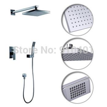 """NEW  Wholesale /Retail Bathroom Rain Shower Mixer Tap Single Handle Shower Faucet Set 8"""" Shower Head W/Hand Shower"""