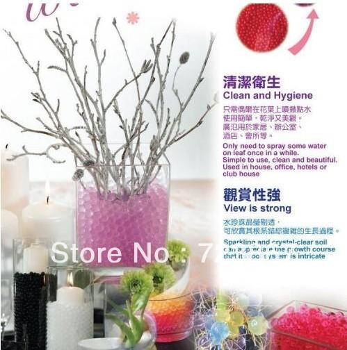 guangzhou crystal mud,Luminous Rainbow Crystal Soil Water Beads ,Water Bio Gel Mud Balls 12 colors,Magic Crystal Soil Water(China (Mainland))