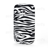 Horizontal Zebra Stripe Pattern for Samsung Galaxy S III / 3 Mini I8190 Soft TPU Case free shipping
