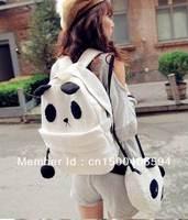 2013 Korean new handbag / Fashion Cute Panda leisure Rucksack Backpack for student personality For free shipping