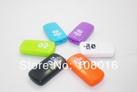 FREE SHIPPING, 50pcs/lot, high quality,high speed, magic beans USB 2.0 memory card reader/ TFcard /micro SD card reader
