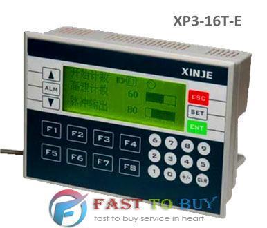 Plc et hmi intégrée xinje xp3-16t-e 8- point numérique entrée 8- point de sortie numérique de contrôle logique mix.& i analog/o& hmi