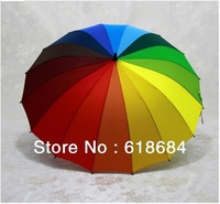 Hot selling 60pcs/lot  Rainbow umbrella Princess umbrella Skillet Creative umbrella Clear umbrella