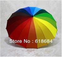 Hot selling 60pcs/lot  Rainbow umbrella Princess umbrella Skillet Creative umbrella Clear umbrella