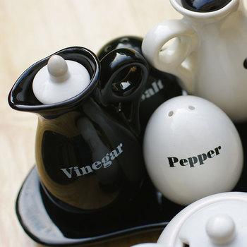 Ceramic at home pepper bottle oil and vinegar pot oil and vinegar bottle condiment bottles pallet