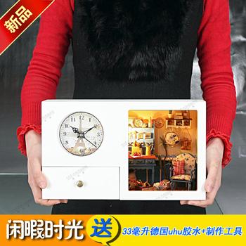 Gold medal diy series music clock storage box time