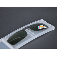 Glare Blocking Polarized UV Driving/Fishing Clip on Sunglasses For Metal Frame+Case