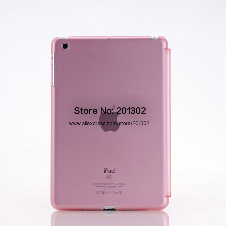 Half Transparency Matte Hard PC Case Skin For Apple iPad Mini, Mix Color+Free Shipping 10pcs/Lot(Hong Kong)