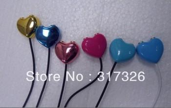 Free shipping 5pcs/lot Heart Audio Splitter! **lovers'Splitter** 3.5mm Headphone Earphone Splitter Adapter Audio Splitter