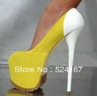 Top quality fashion sexy  high heels plateform pumps  super quality high heel suede colorful shoes