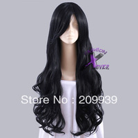 dj 0083 Homestuck Vriska Serket Long Black Curly Cosplay Stylish Hair Wig