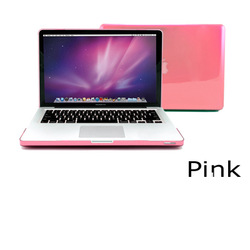 "For Apple 13"" 13.3"" Inch for MacBook Pro Crystal Hard Case Cover Plastic Shell Laptop Notebook - Pink, Free Shipping(China (Mainland))"