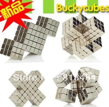 Free Shipping Retail Cheap square Buckyballs Neocube Magic Cube 216 pcs Diameter 3mm Magnetic Balls - Gold Neodymium Cube Magnet
