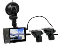 """Car DVR Separate Cameras , Car DVR Recorder S3000A with Rear View Camera + 3.5"""" LED + HD 720P + H.264 ! Free Shipping !"""