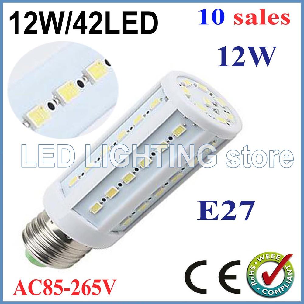 Free shipping 10x 12W 42LED 5630 SMD E27 E14 B22 Corn Bulb Light Maize Lamp LED Light Bulb Lamp LED Lighting Warm/Cool White