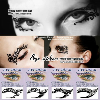 High quality aesthetic sexy queen of lace eyeliner eye shadow stickers double eyelid(China (Mainland))