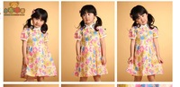 children's wear cotton cotton children's dress