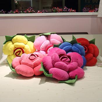 Free Shipping Retail 40cm Valentine's day gift,Rose Plush Cushion,Home Decor Romantic Rose Shape Back Cushion Pillow