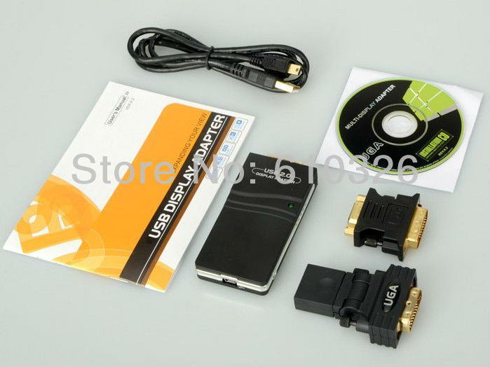 USB 2.0 DVI VGA HDMI Multi Display Card Converter Graphic Adapter(China (Mainland))