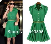 (Free Shipping)Promotion Chiffon Ruffles Short Shirt Skirt Knee-Length Preppy Style Prom Skirt(S,M,L,XL)Cheap Supply