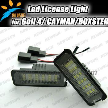 2013 NEW STYLE Auto LED License Light for VW EOS,  LUPO, PASSAT CC, Scirocco, GOLF4 7000K Xenon White Led License Light